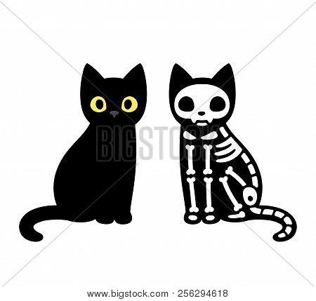 poster of Cartoon Cat Skeleton