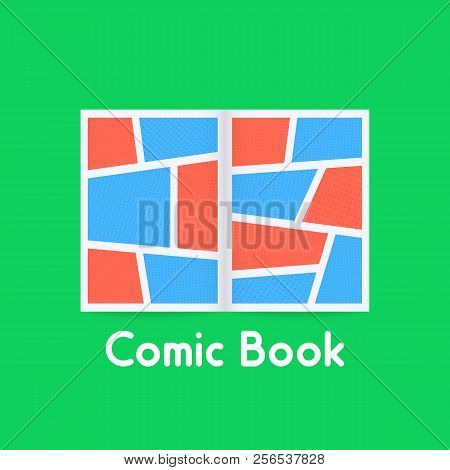 Colored Comic Book On Green