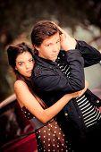 retro teen couple 50's (gentle color retouching for era)
