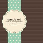image of greeting card design  - Retro greeting card template design - JPG