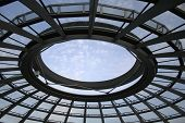 opening in the roof of the reichstag, berlin, germany