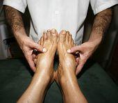 indian ayurvedic oil foot massage
