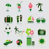 Summer icons, vector