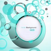 Blue circle background, vector