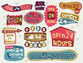 24 hours vector elements