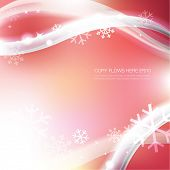 Soft winter background with element