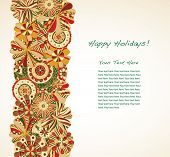 Holiday garland borders large text area.