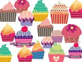 pic of patty-cake  - Set of sweet cupcakes - JPG