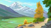 Scenic Tibetan Himalaya Valley