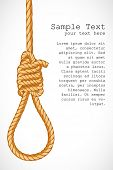 illustration of noose hanging on abstract background