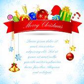 ilustração de presentes de Natal com fita e bell