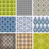 Set of patterns in retro style. Seamless