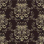 Luxury damask wallpaper. Seamless