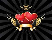 image of two hearts  - Two Hearts Insignia - JPG