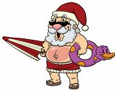 Santa Claus on vacations