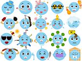 Vector Icons of Global / Environmental Change (A set of Global warming)