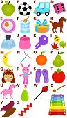 Back to school : Vector : Alphabet A to Z - Colorful Picture Dictionary for Kids