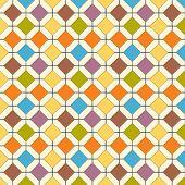 A multicolored retro floor tile vector pattern.