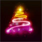 Piel-árbol de Navidad. Ilustración del vector. Eps10