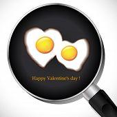 Fried Egg.Valentine's day