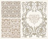 background with seamless patterns in a Classic style