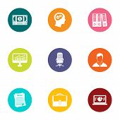 Insertion Icons Set. Flat Set Of 9 Insertion Vector Icons For Web Isolated On White Background poster