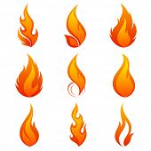 stock photo of infernos  - Fire flames - JPG