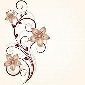 Floral background.Element for design.