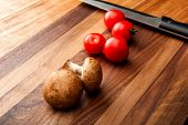 Cutting Board Close-up. Board For Cutting Food. Cutting Board poster