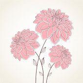 Fondo floral. Dalia flor de vector. Elemento de diseño.