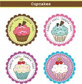 Cute Cupcake Stickers