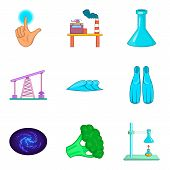 Water Recovery Icons Set. Cartoon Set Of 9 Water Recovery Icons For Web Isolated On White Background poster