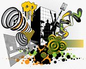 Urban music design element set