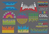 Music set 8 (visit our portfolio for more design elements and music vectors)