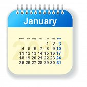 calendar - january (look for other month in my portfolio)