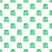 Men Classic Shorts Pattern. Cartoon Illustration Of Men Classic Shorts Pattern For Web poster