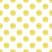Label Awesome Quality Pattern. Cartoon Illustration Of Label Awesome Quality Pattern For Web poster