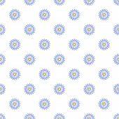 Circular Saw Blade Pattern. Cartoon Illustration Of Circular Saw Blade Pattern For Web poster
