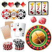 stock photo of ace spades  - Highly detailed casino design elements - JPG