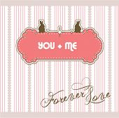 You + Me Valentine's Day greeting card