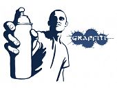 Hip hop graffiti spray can
