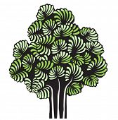 árvore de vetor verde