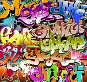foto of rap  - Graffiti seamless background - JPG