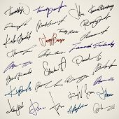 Personal signature. Set of autographs