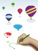 Drawing balloons