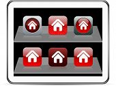 Home Set of apps icons. Vector illustration doesn't contain transparency and other effects. EPS8 Only.
