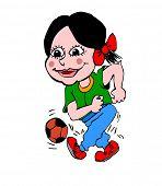 Footballer girl child