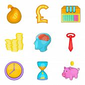 Change Purse Icons Set. Cartoon Set Of 9 Change Purse Icons For Web Isolated On White Background poster