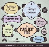 Vector Frames set for your text