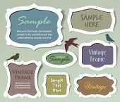 stock photo of greeting card design  - Set of vector frames and labels - JPG